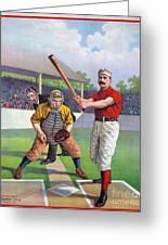 Baseball Game, C1895 Greeting Card