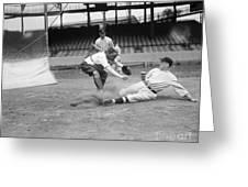 Baseball Game, C1915 Greeting Card