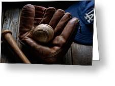 Baseball Glove Greeting Card by Bob Nardi