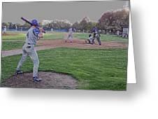 Baseball On Deck Digital Art Greeting Card