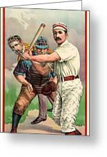 Baseball Player, C1895 Greeting Card