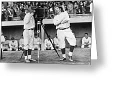 Baseball Players, 1920s Greeting Card