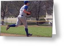Baseball Step And Throw From Third Base Greeting Card