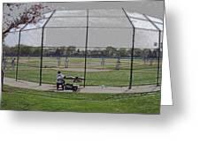 Baseball Warm Ups Digital Art Greeting Card