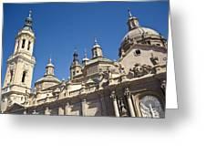 Basilica Del Pilar, Expo Zaragoza 2008 Greeting Card