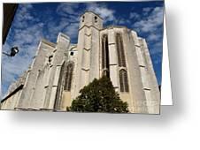 Basilica Of Saint Mary Madalene Back View Greeting Card
