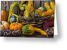Basket Full Of Gourds Greeting Card