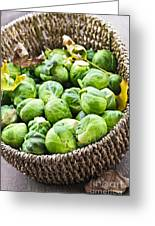Basket Of Brussels Sprouts Greeting Card