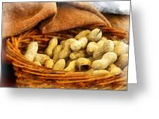 Basket Of Peanuts Greeting Card