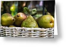 Basket Of Pears Greeting Card
