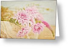 Basket Of Vintage Floral Goodness Greeting Card