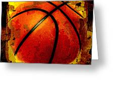 Basketball Abstract Greeting Card by David G Paul