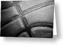 Basketball -black And White Greeting Card