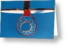 Basketball Goal Greeting Card