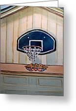 Basketball Hoop Sketchbook Project Down My Street Greeting Card by Irina Sztukowski