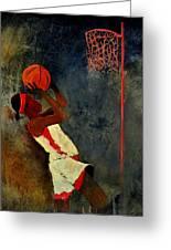 Basketball Player Greeting Card