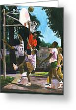 Basketball Players Greeting Card by Jim Gleeson