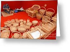 Basketwork Greeting Card