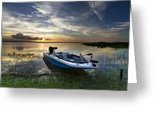 Bass Fishin' Evening Greeting Card