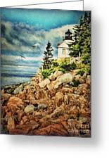 Bass Harbor - Acadia Np Greeting Card