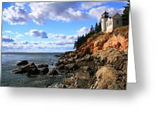 Bass Harbor Head Seascape Greeting Card
