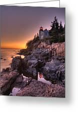 Bass Head Harbor Lighthouse Greeting Card