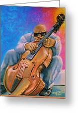 Bass Player Greeting Card by Terry Jackson