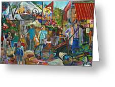 Bastille Day In Media Greeting Card by Carol Mangano