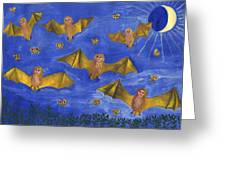 Bat People At The Pipistrelle Party Greeting Card