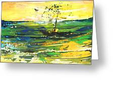 Bathed In Golden Light Greeting Card