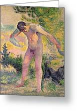 Bather Drying Himself At St Tropez Greeting Card