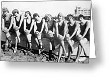 Bathing Beauties, 1916 Greeting Card