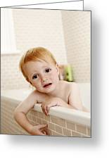 Bathing Child Greeting Card