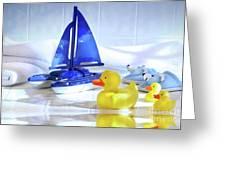 Bathtime Fun  Greeting Card