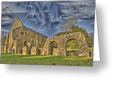 Battle Abbey Ruins Greeting Card