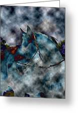 Battle Cloud - Horse Of War Greeting Card