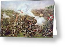 Battle Of Five Forks Virginia 1st April 1865 Greeting Card by American School