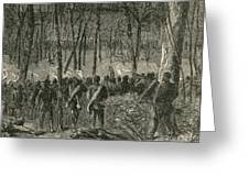 Battle Of The Wilderness, 1864 Greeting Card by Photo Researchers