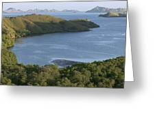 Bay And Outlying Islands Off Rinca Greeting Card