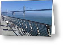Bay Bridge From New Pier Greeting Card