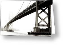 Bay Bridge Greeting Card by Jarrod Erbe