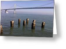 Bay Bridge On A Clear Day Greeting Card