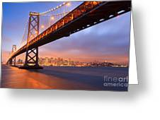 Bay Bridge To San Francisco Greeting Card