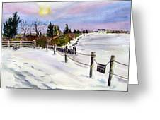 Bay Freeze Greeting Card