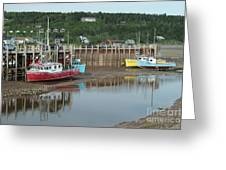 Bay Of Fundy - Low Tide Greeting Card