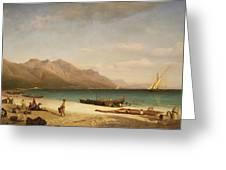 Bay Of Salerno Greeting Card