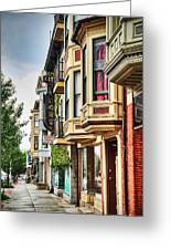Bay Windows Greeting Card