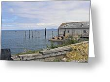 Bayside Boat Barn Greeting Card