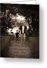 Be A Dad Greeting Card by Kelly Hazel