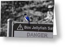Be Warned Greeting Card